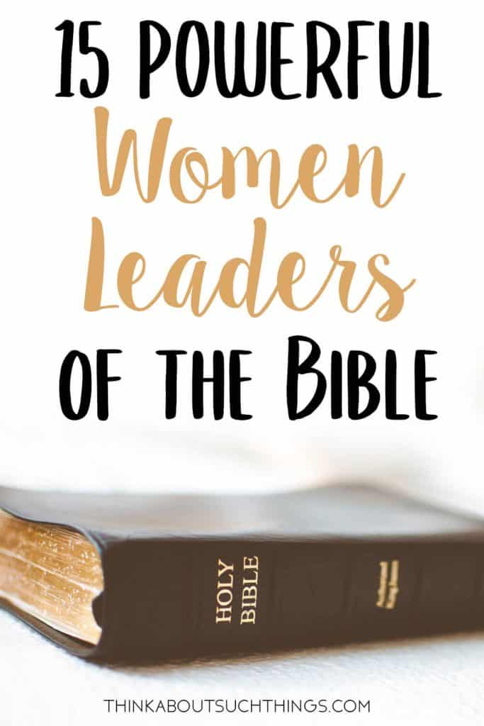 women leaders of the Bible