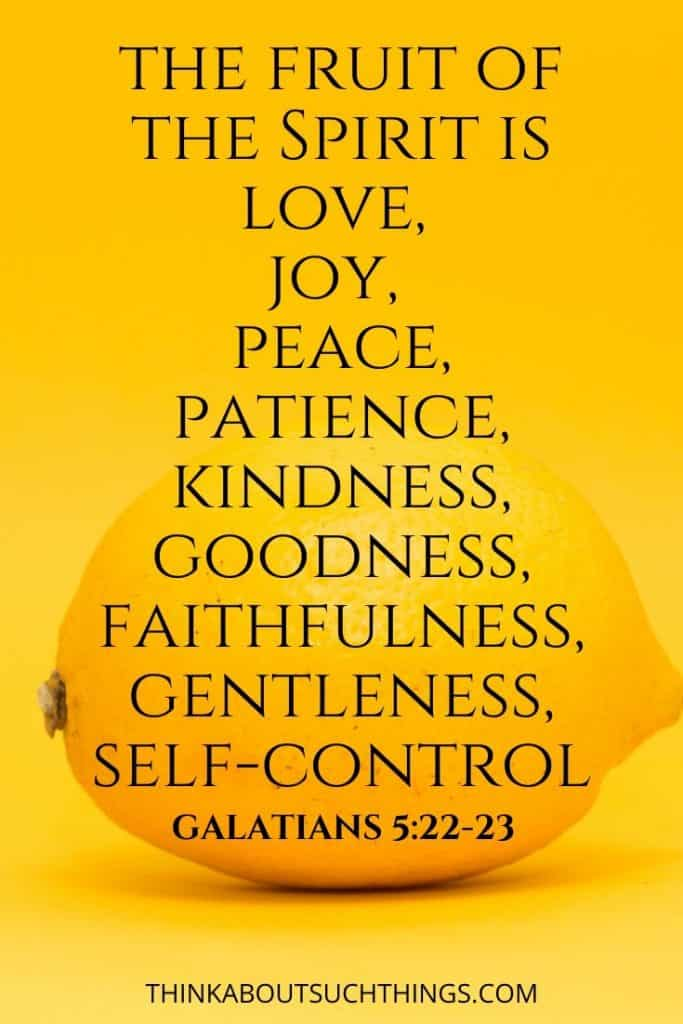 Kindness is fruit of the Spirit Scripture - Galatians 5:22-23