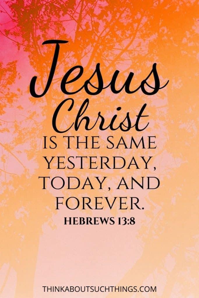 Hebrews 13:8 -
