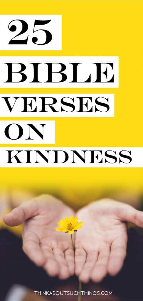 A collection of bible verses about kindness