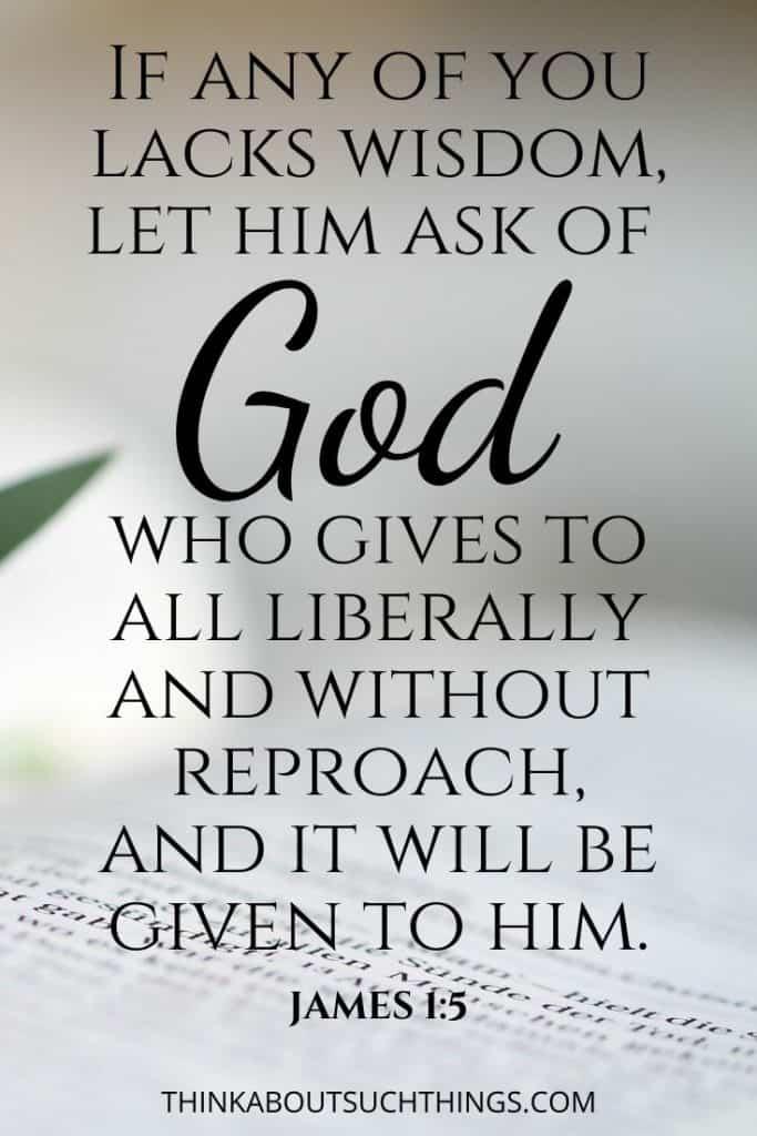 James 1:5 Bible verse about gaining wisdom