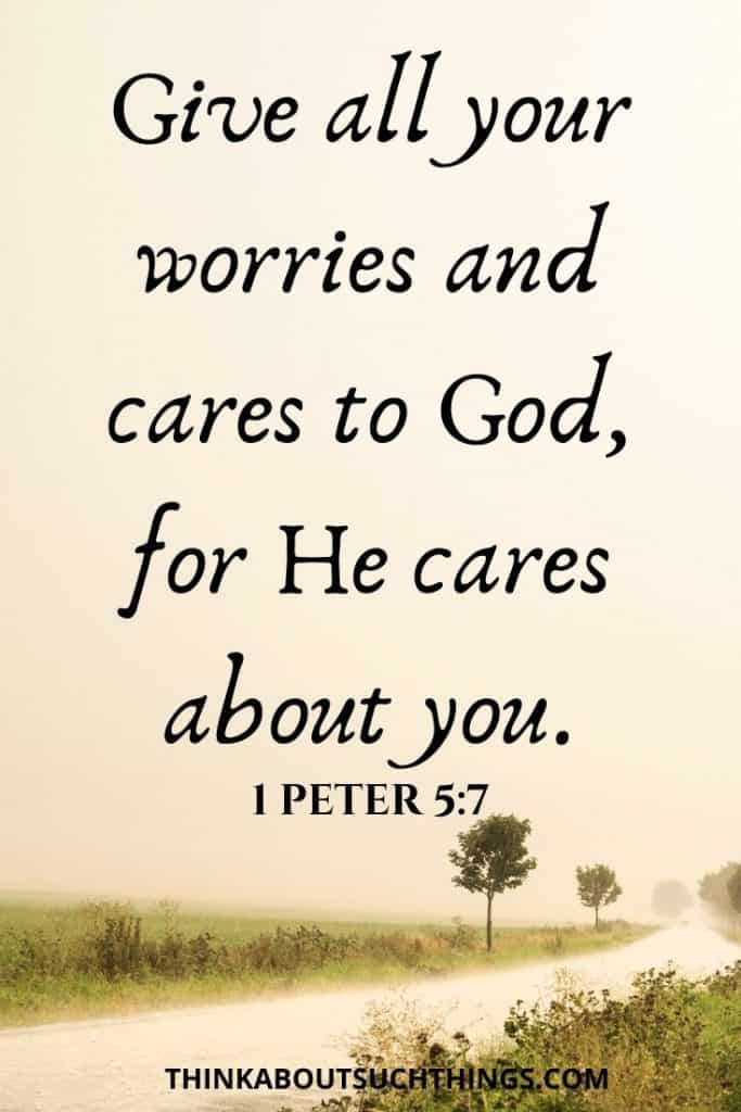 words of encouragement for healing  from 1 Peter 5:7