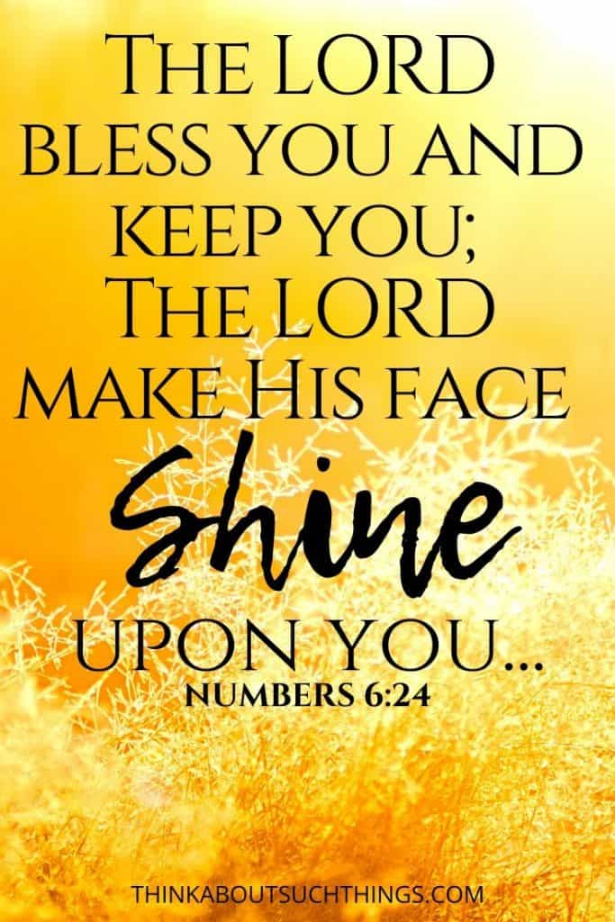 "God shines His Light - Numbers 6:24 ""The Lord Bless you and keep you; the Lord make his face shine upon you..."""
