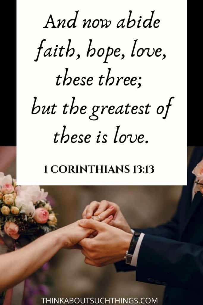 1 corinthians 13 bible verses for weddings