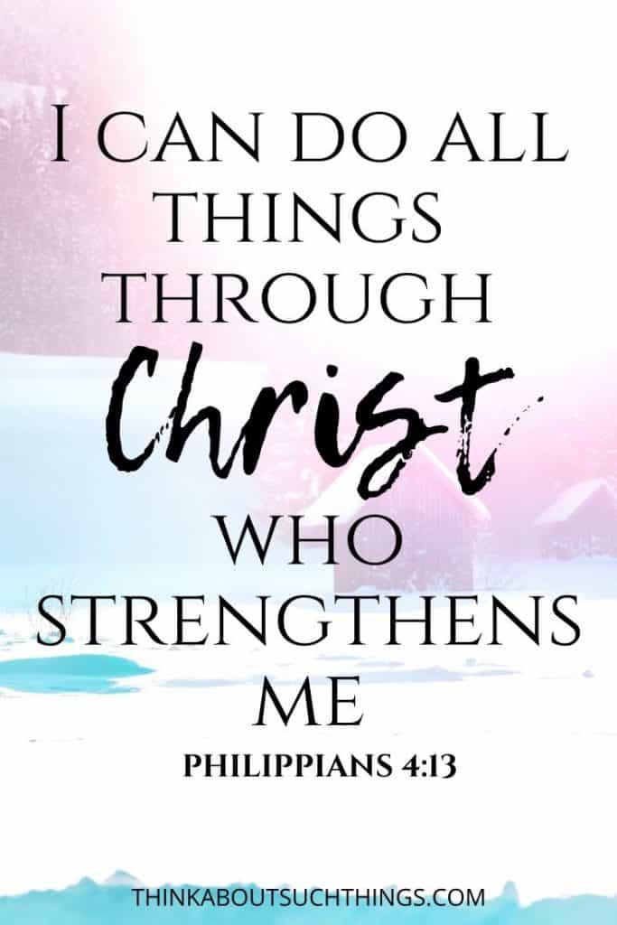 scripture on perseverance - Philippians 4:13