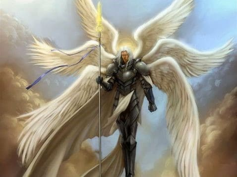 Seraph with a spear