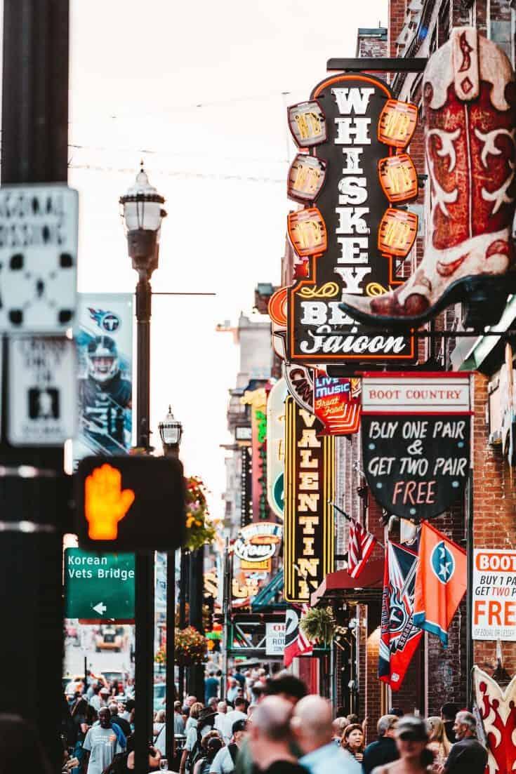 Downtown Nashville (Broadway St.)