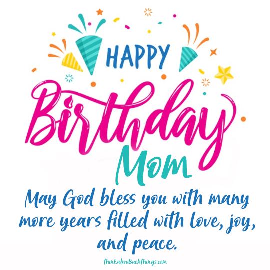 Happy blessed birthday mom