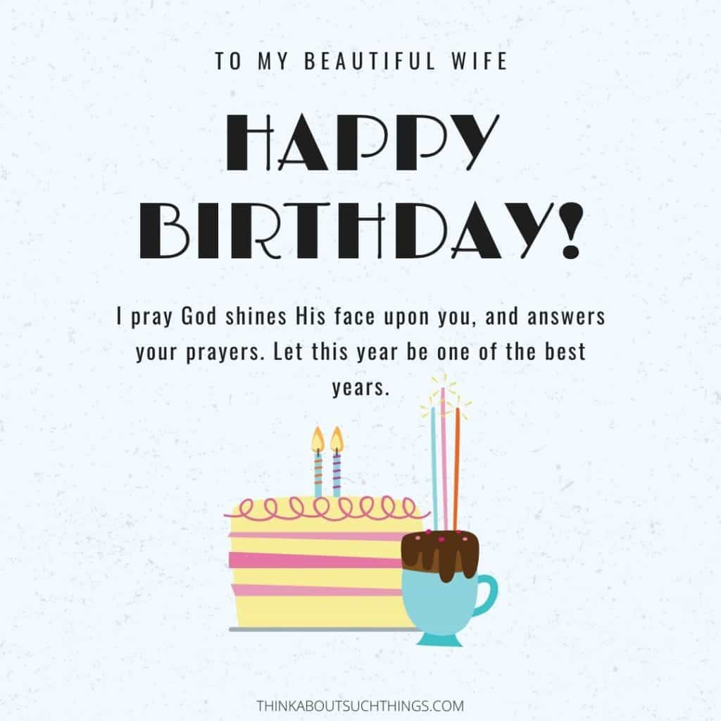 birthday prayer for wife
