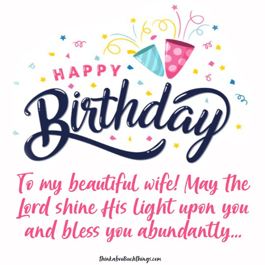 blessed birthday message for wife