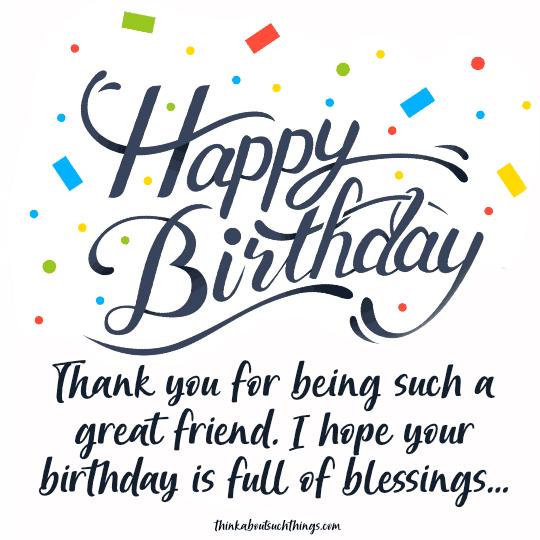birthday blessing for best friend