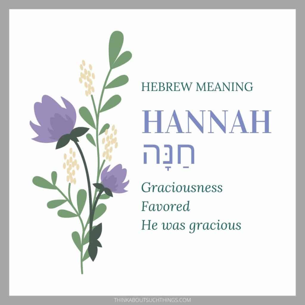 Hannah in hebrew meaning