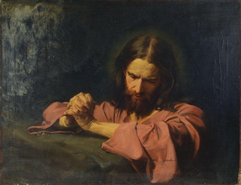 Jesus Praying in the Garden - Hermann Clementz