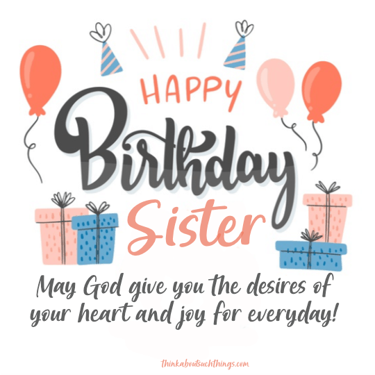birthday blessing for my sister