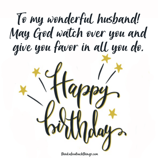 birthday wish and blessing for husband