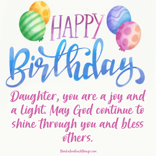 birthday blessing for daughter
