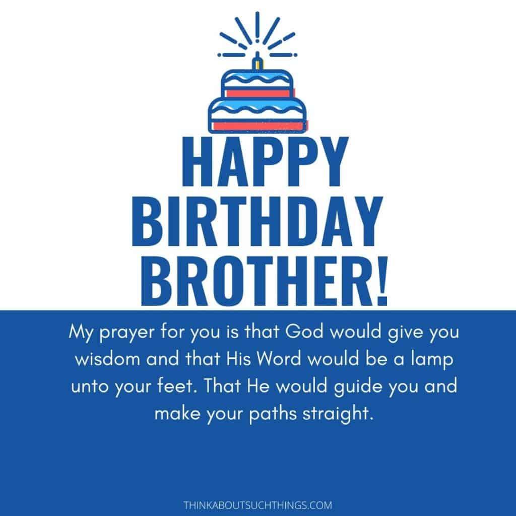 birthday prayer for brother
