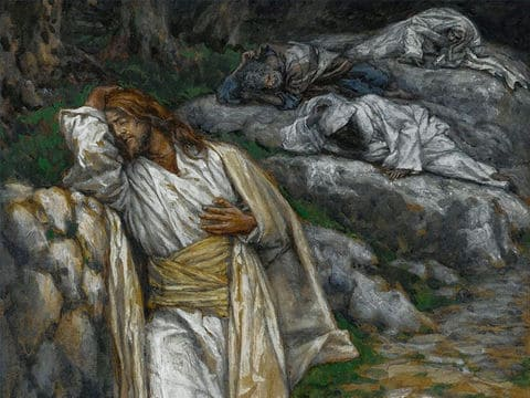 The agony in garden painting by James Tissot
