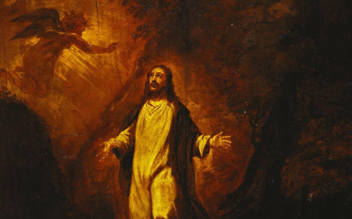 The agony in garden - Jesus Chris Paintingt