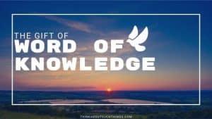 word of knowledge scripture