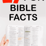 fun facts of the bible
