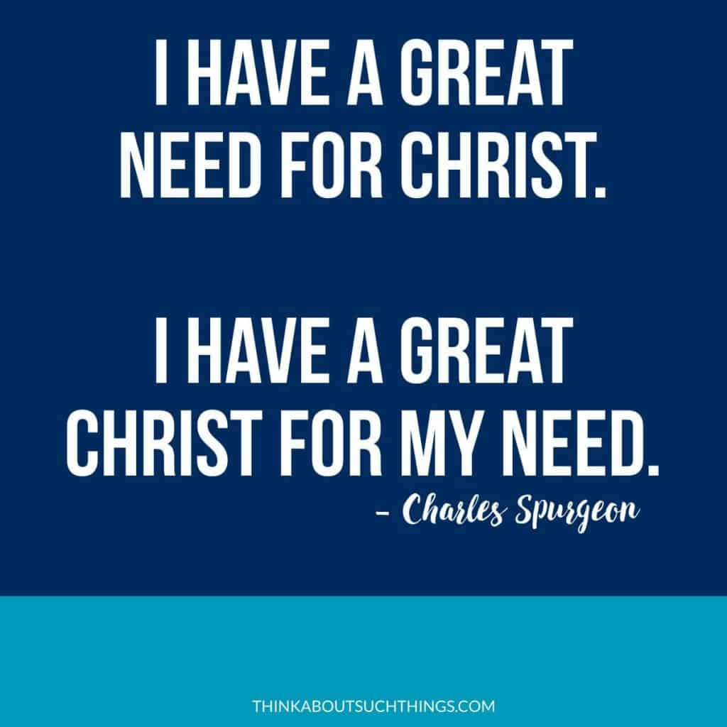 charles spurgeon quote - Great Christ