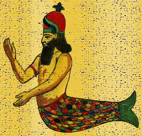 Dagon fish god was half fish half man he was a mermaid in the Bible