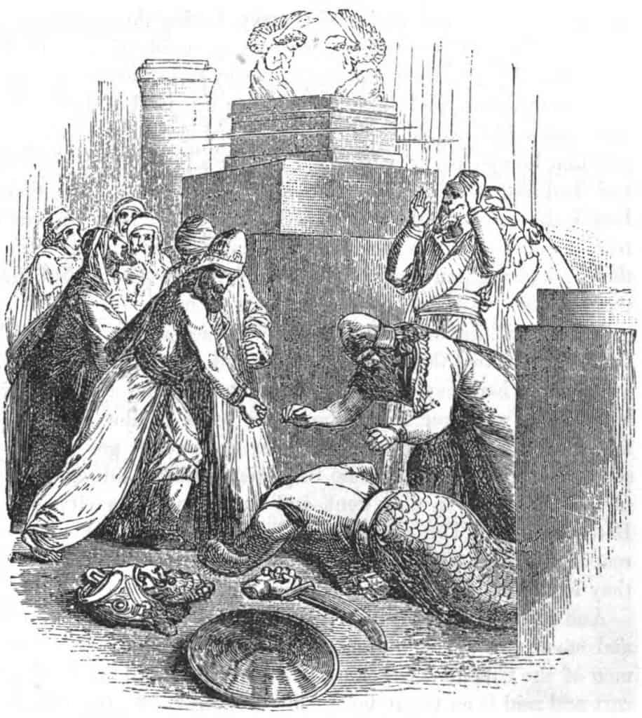 The fish god dagon fell before the ark