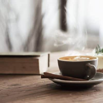 Good morning God quotes - Bible and coffee