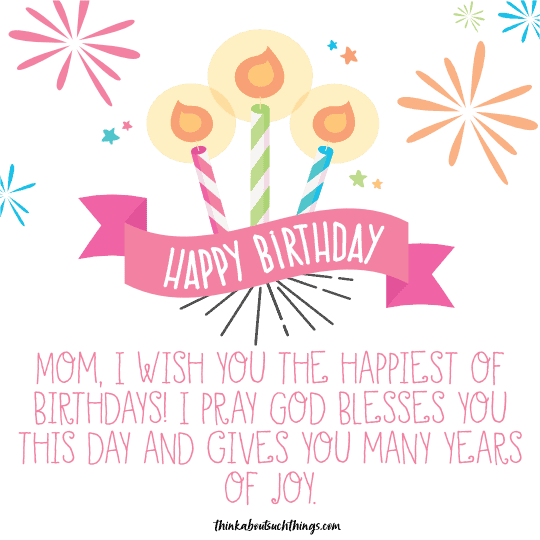 religious birthday message for mom