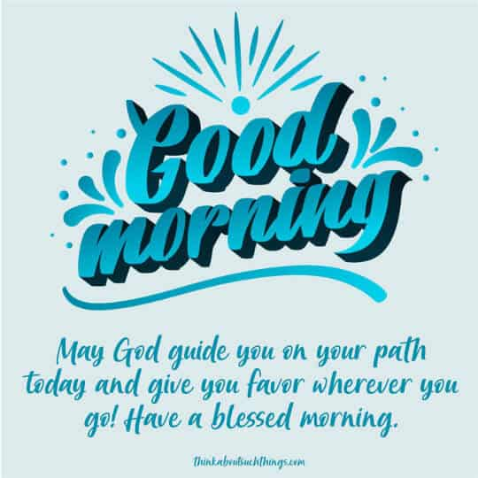 Have a blessed morning