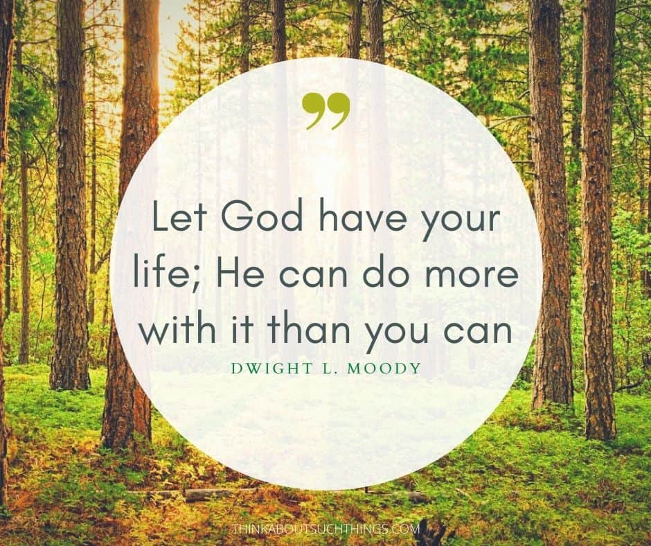 Letting god take control quotes by D.L Moody