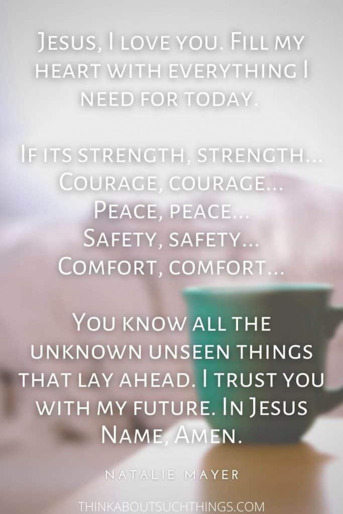 Short morning prayer by natale mayer