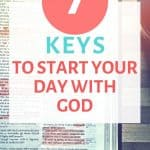 Start your day with God