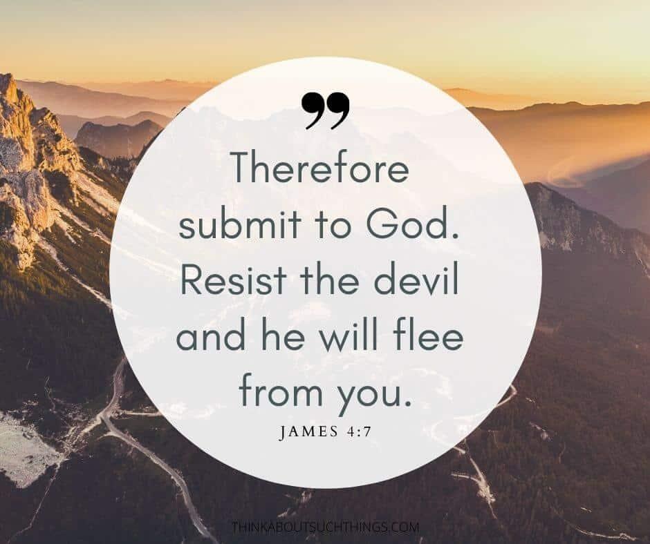 Surrender to god verses - James 4:7