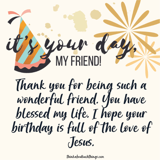 birthday wishes for christian friend