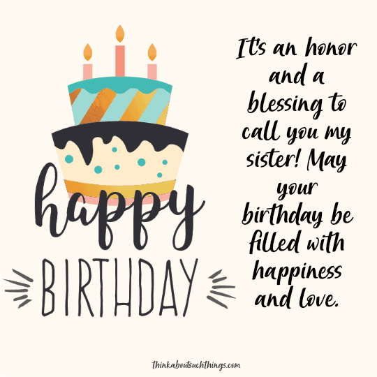 christian birthday quotes for sister