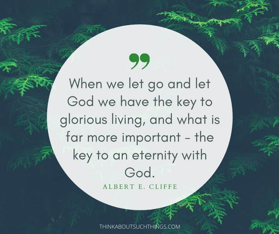 Let go and let god quotes images