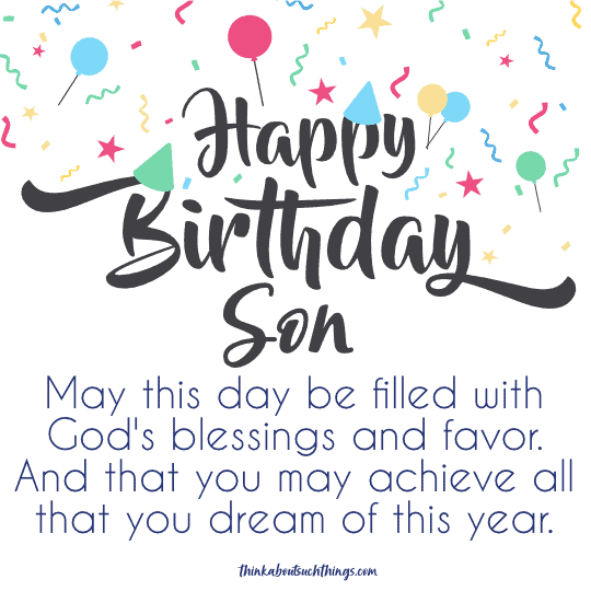 christian birthday wishes for son
