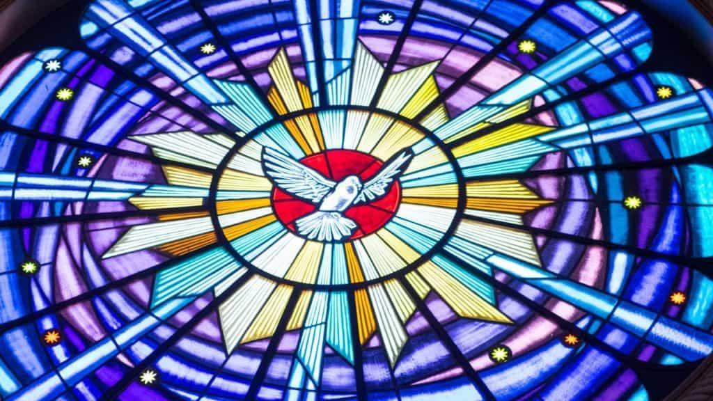 Dove Symbol - Stain glass