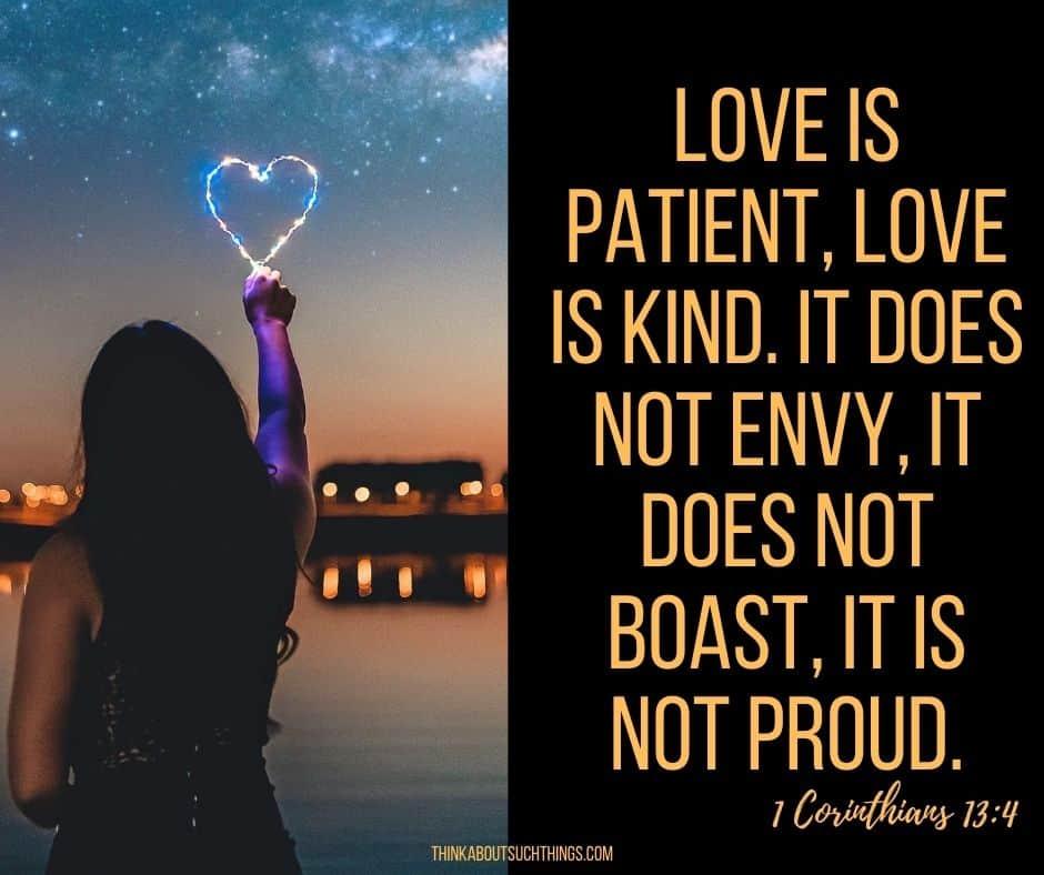 bible verse pride 1 Corinthians 13:4
