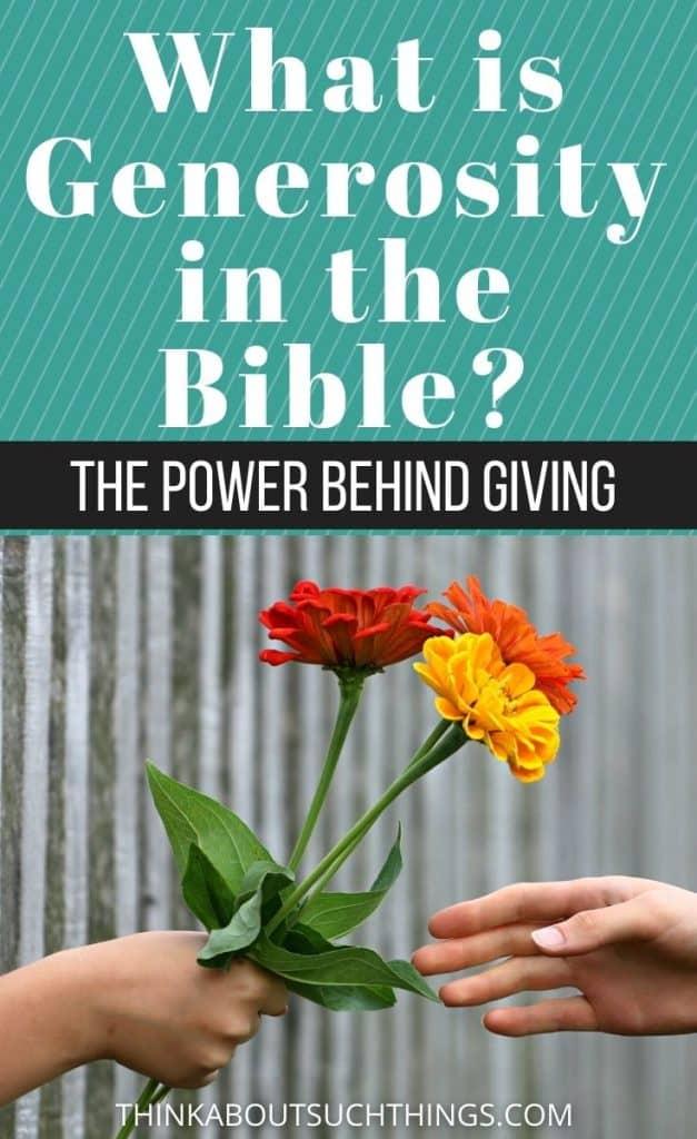 Generosity In the Bible