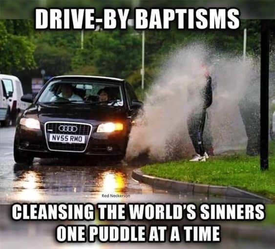 baptism church meme