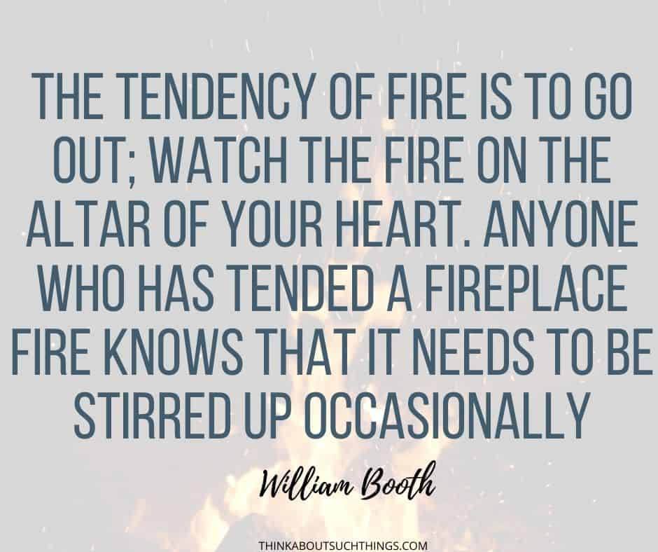William Booth Fire Quote