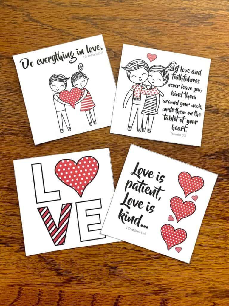 bible verse valentines cards