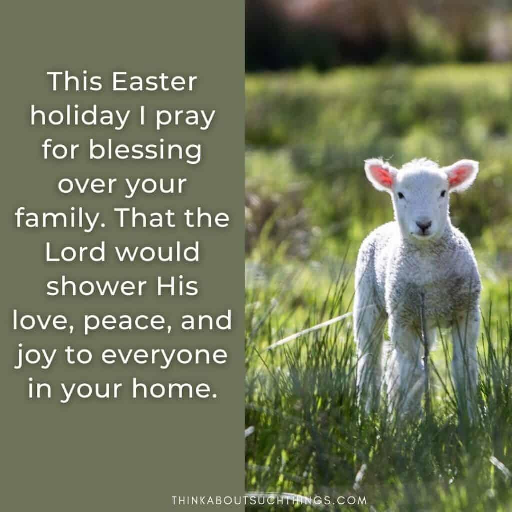 Christian easter blessings for family