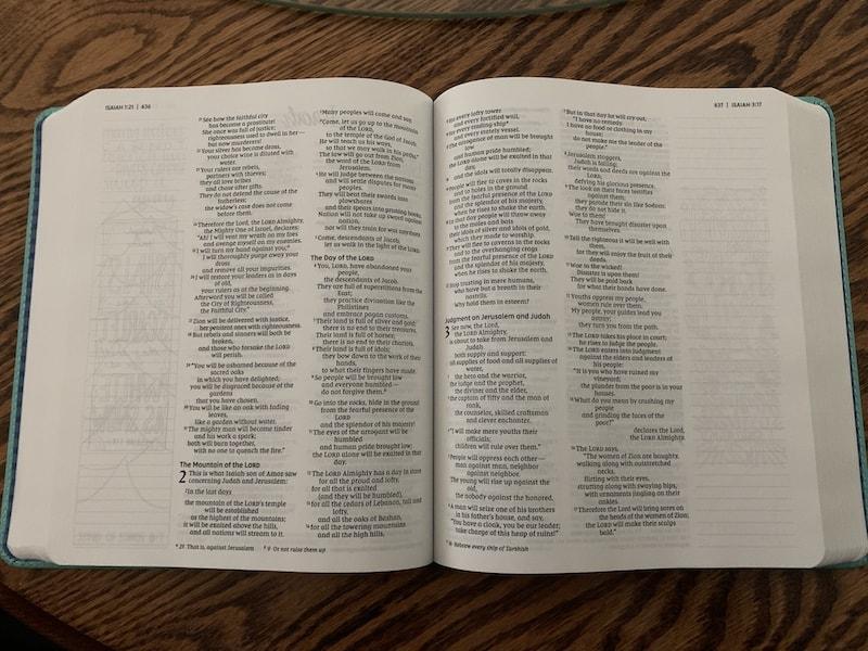 inside Beautiful Word Bible for girls