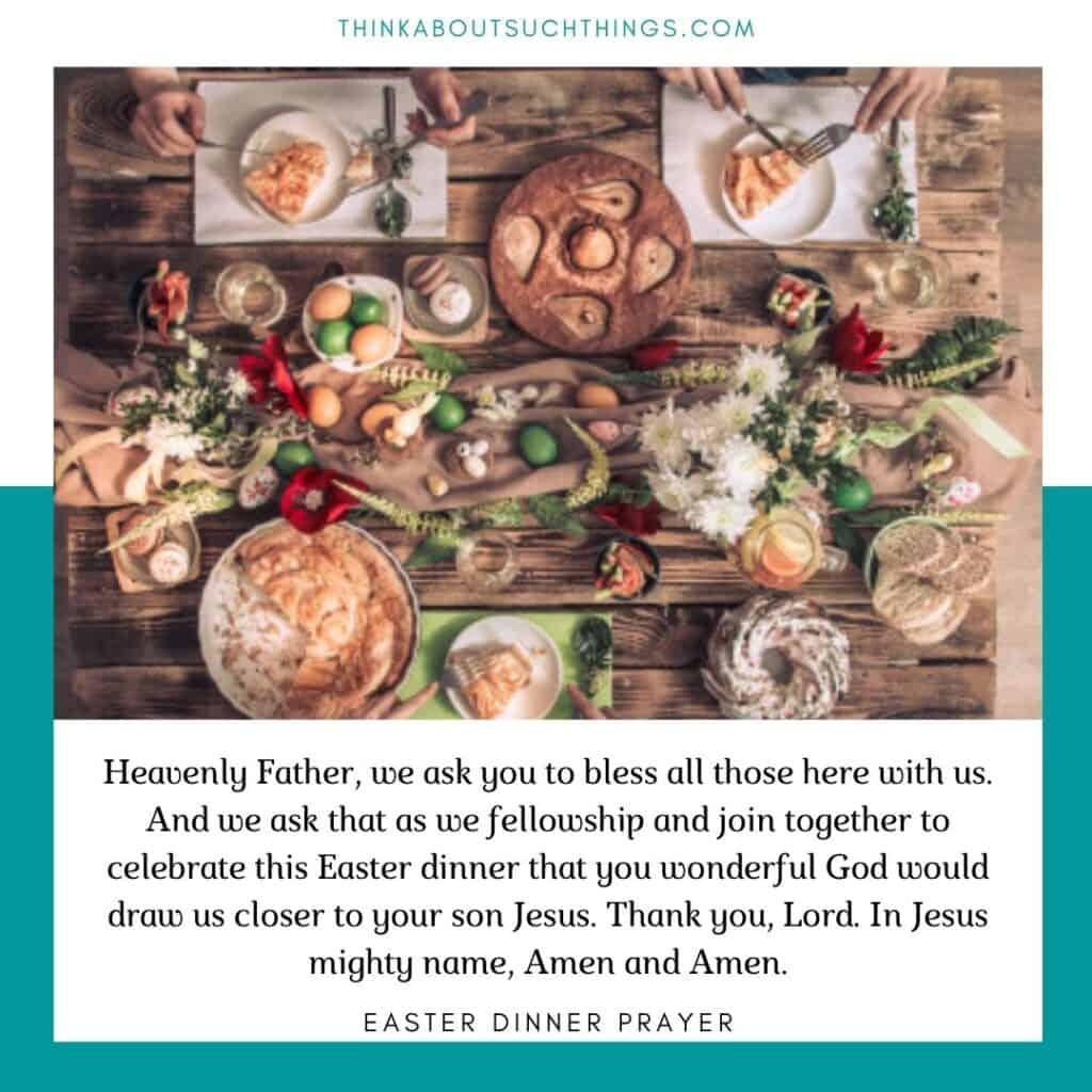 Easter dinner prayers