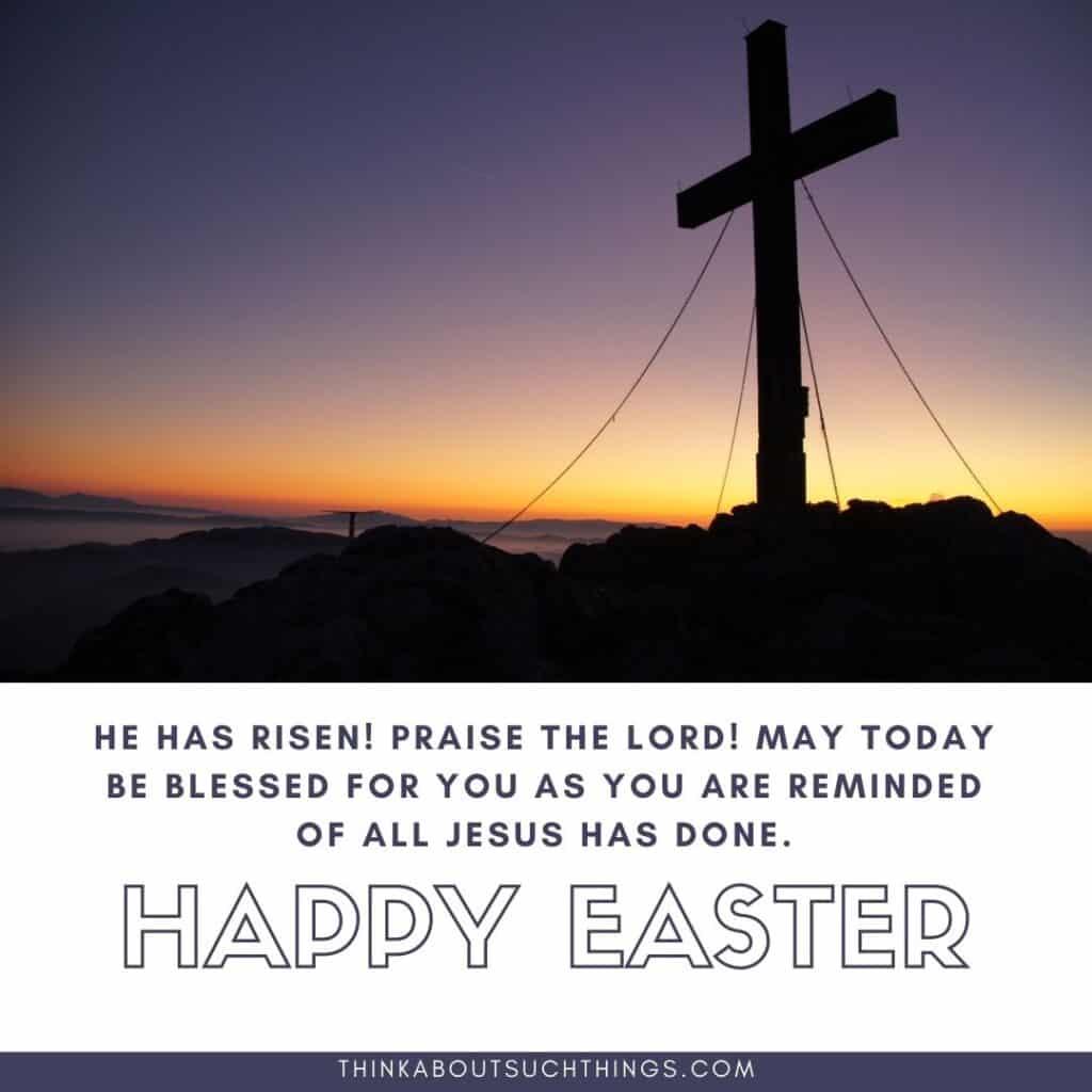 He is risen blessings