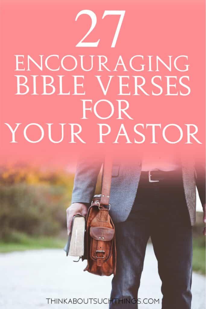 Bible Verses for Pastors
